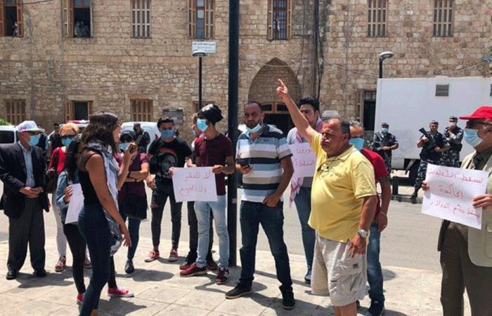 اعتصام لناشطي حراك صور أمام السرايا الحكومية