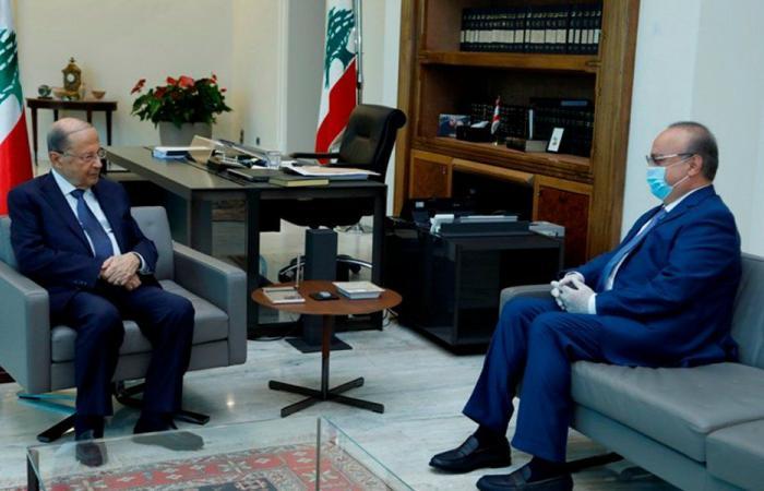 عون التقى وهاب ويترأس بعد الظهر اجتماع المجلس الاعلى للدفاع