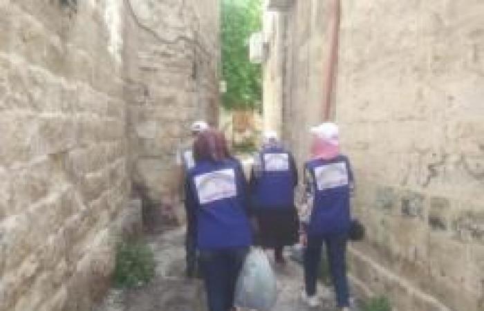 فلسطين | توزيع سلال خضار على 50 عائلة متضررة من كورونا بنابلس