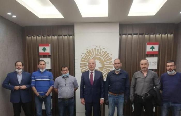 دبوسي التقى وفد وزارة الزراعة في عكار