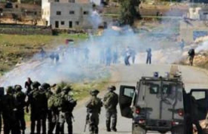 فلسطين   نابلس: إصابات خلال مواجهات الساوية