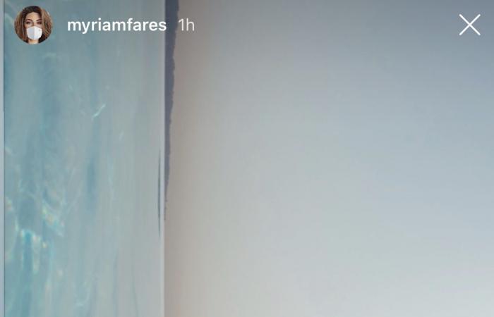 ميريام فارس تستمتع بالطقس الحار في مسبح منزلها