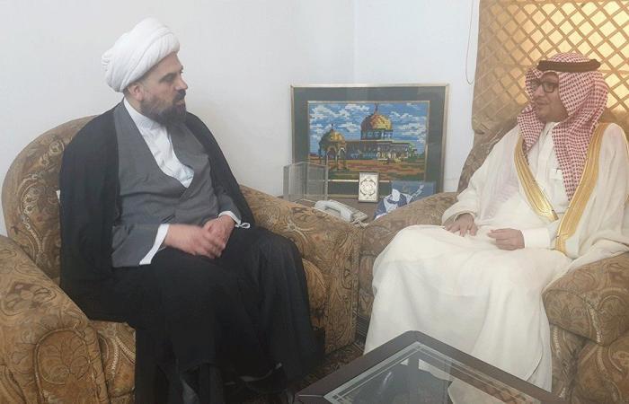 أحمد قبلان استقبل السفير السعودي مهنئًا