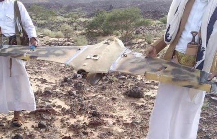 اليمن   فيديو.. الجيش اليمني يسقط طائرة حوثية في صرواح