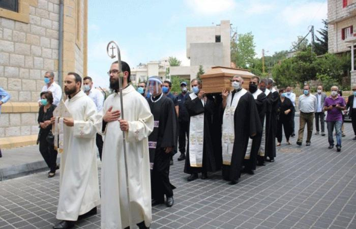 استقبال جثمان المطران يوسف بشارة في قرنة شهوان