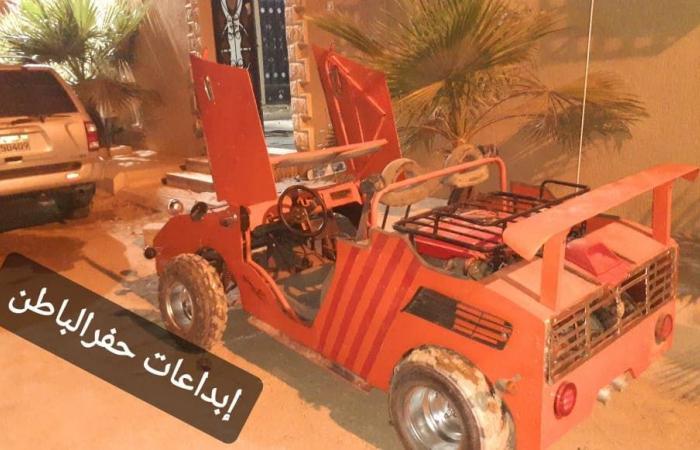 """السعودية   استغل منع التجول.. سعودي يقوم بصنع سيارة """"كورونا"""""""