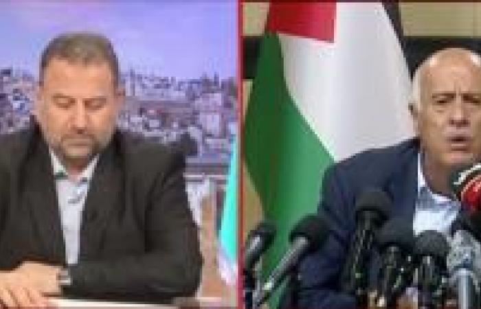 فلسطين | الرجوب والعاروري في مؤتمر صحفي مشترك لمواجهة الضم
