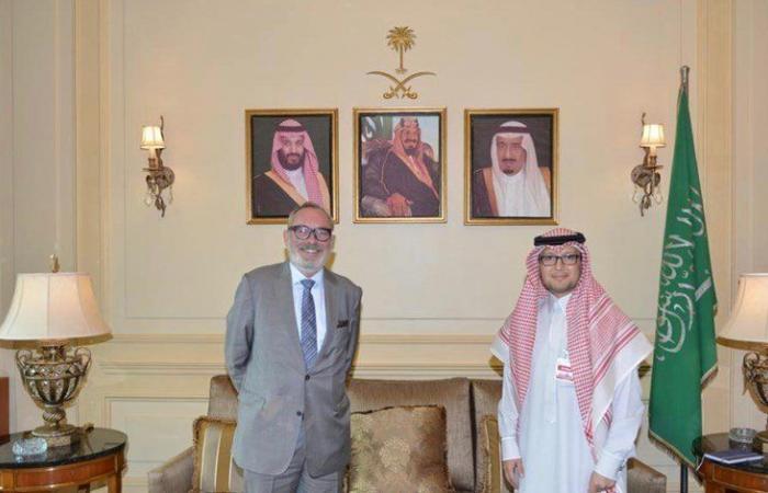 بخاري بحث الاوضاع العامة وسفير بلجيكا في بيروت