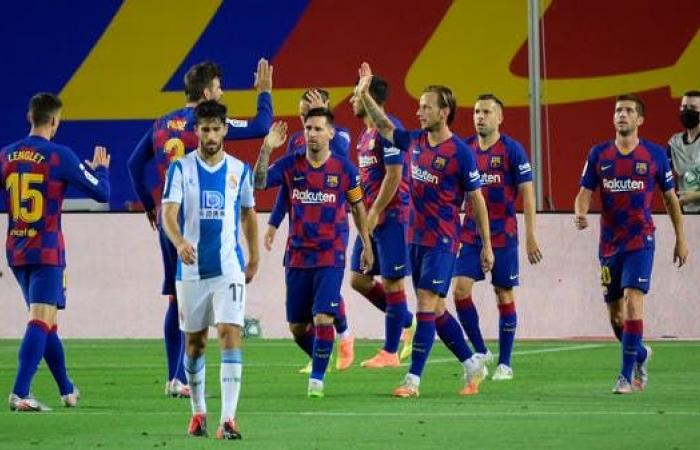 برشلونة يعبر إسبانيول ويرسله للدرجة الثانية بعد 27 عاماً