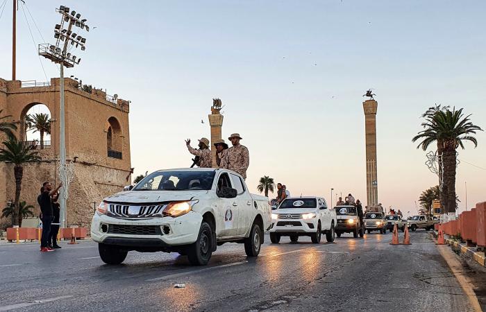 """استعراض قوة بالعاصمة الليبية.. """"ثوار طرابلس"""" تطل ثانية"""