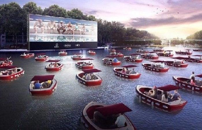 باريس تشهد انطلاق أول صالة للسينما العائمة والمشاهدة تتم من القوارب