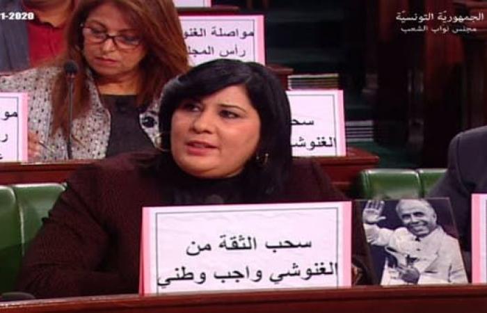 الغنوشي يطالب الأمن بالتدخل لفض اعتصام عبير موسي بالقوّة