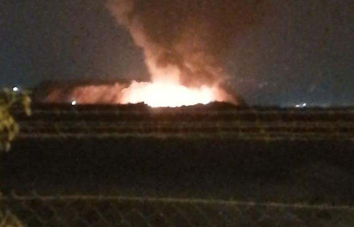 حريق بالقرب من معمل النفايات جنوب صيدا