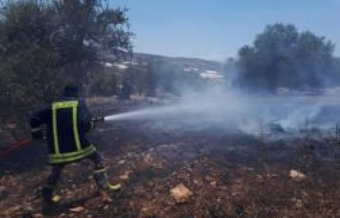 فلسطين | الدفاع المدني يخمد 13 حريقاَ في جنين