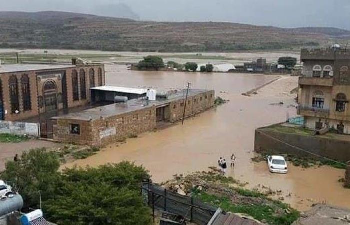 اليمن | السيول تغرق اليمن.. وانهيار سد مائي شمال البلاد
