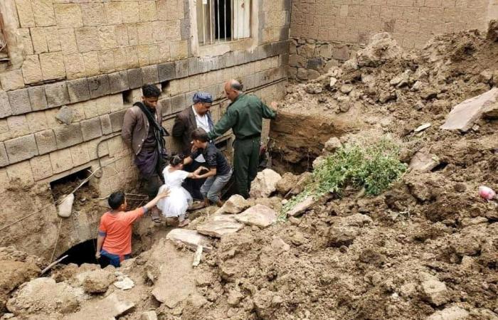 اليمن | شاهد.. انهيار أجزاء من سور صنعاء القديمة المصنفة بالتراث العالمي