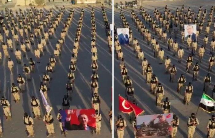 شاهد المرتزقة في عرض بطرابلس وصور أردوغان تملأ المكان
