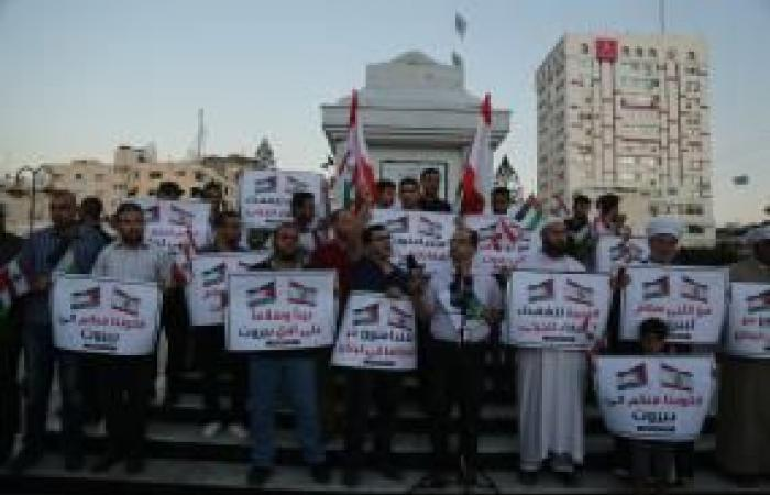 فلسطين | وقفة لصحافيين بغزة تضامناً مع زملائهم في لبنان
