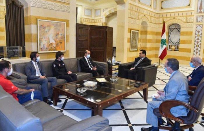 وفد تركي التقى دياب: مستمرون بدعم الحكومة اللبنانية