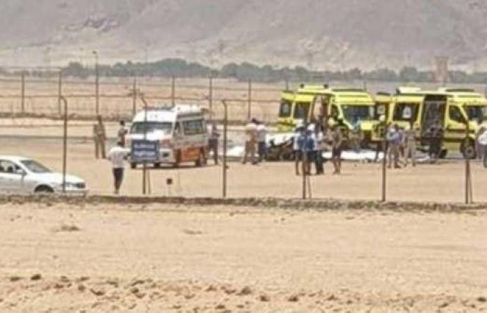 مصر | سيارات الإسعاف تهرع.. سقوط طائرة خاصة بمطار الجونة