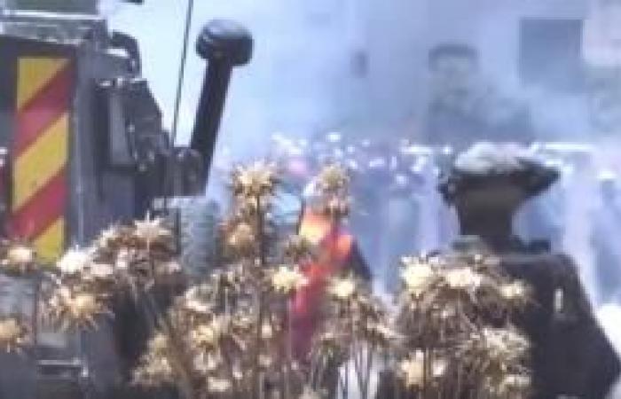 فلسطين   5 إصابات بالاعيرة المطاطية والعشرات بالاختناق خلال مواجهات ترمسعيا