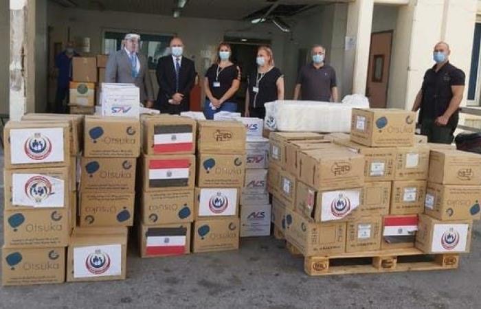 مصر   مصر تواصل إرسال المساعدات العاجلة إلى لبنان