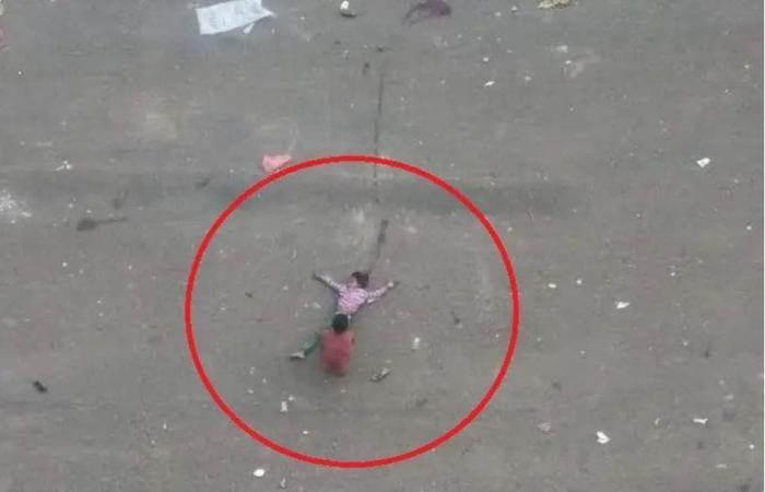 """اليمن   شاهد.. """"طفلة الماء"""" تعيد التذكير بمأساة تعز وجرائم الحوثيين"""