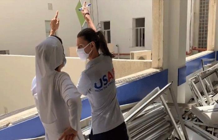 خبراء أميركيون يكشفون على أضرار المستشفيات في لبنان (فيديو)