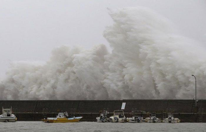 إعصار هايشن يضرب اليابان مصحوباً برياح