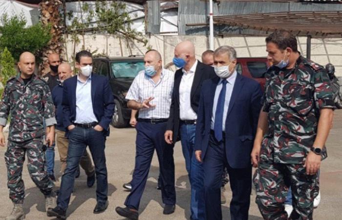 """أعضاء من تكتل """"لبنان القوي"""" زاروا فوج إطفاء بيروت"""