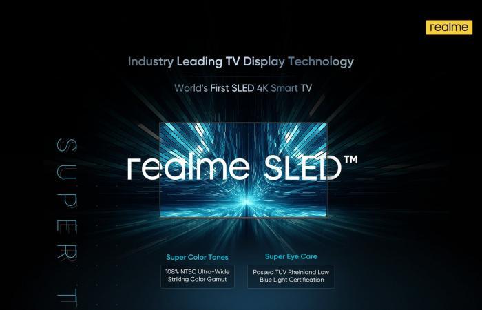 ريلمي تعلن عن أول جهاز تلفاز في العالم بتقنية SLED
