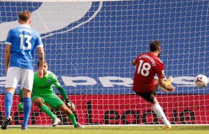 يونايتد يتغلب على برايتون في مباراة مثيرة