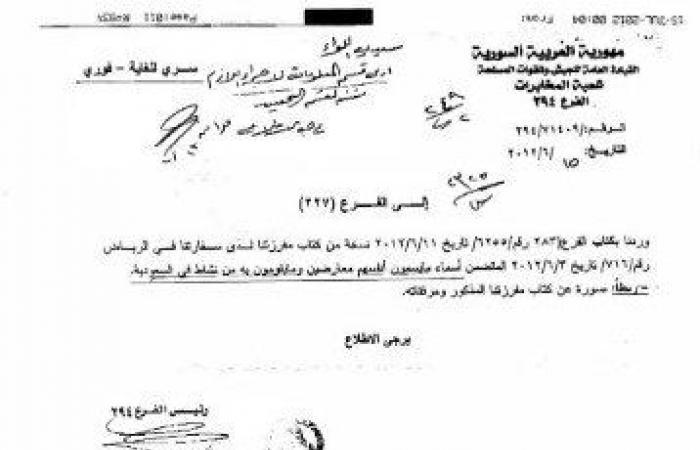 بالوثائق: جواسيس سفارات الأسد تراقب السوريين بالخارج