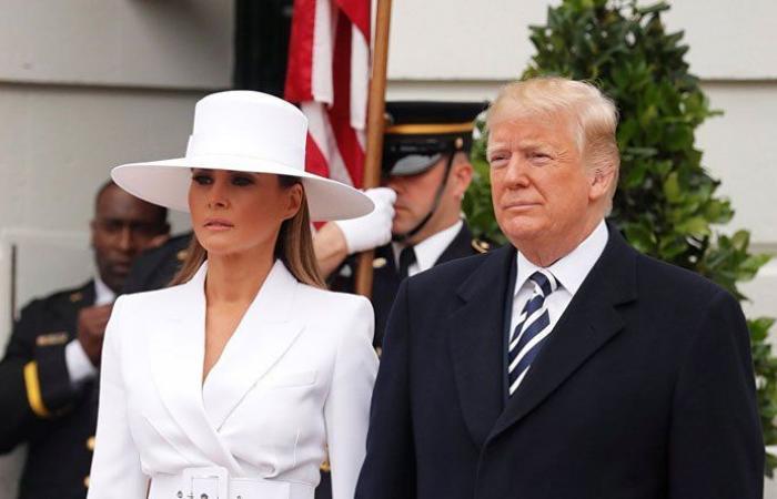 ترمب وزوجته في الحجر الصحي