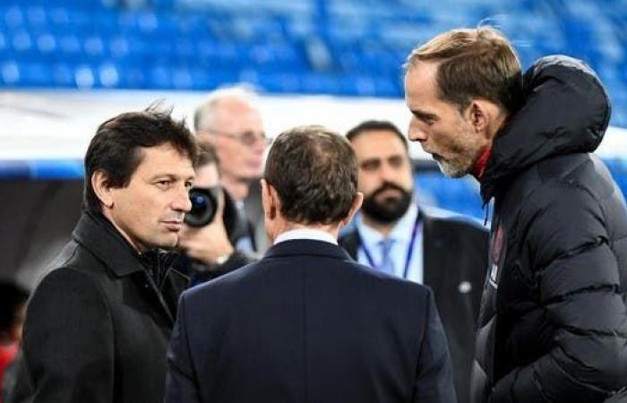 """المدير الرياضي في باريس """"يوبخ"""" المدرب توخيل"""