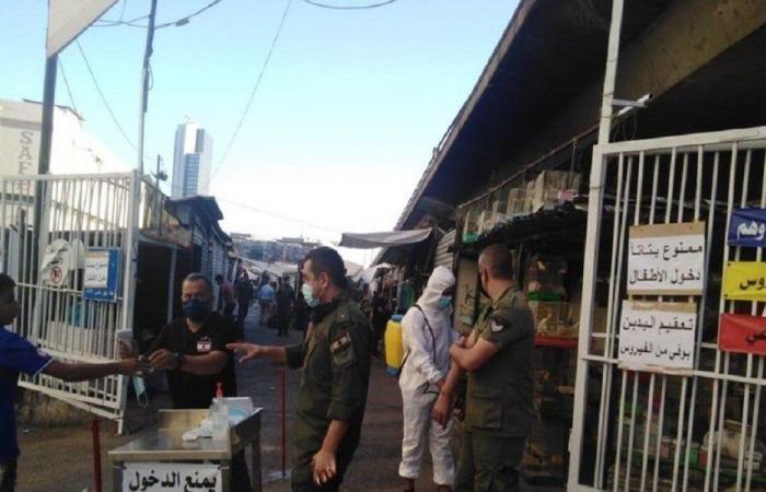 إجراءات وقائية مشددة على مداخل سوق الأحد (صور)