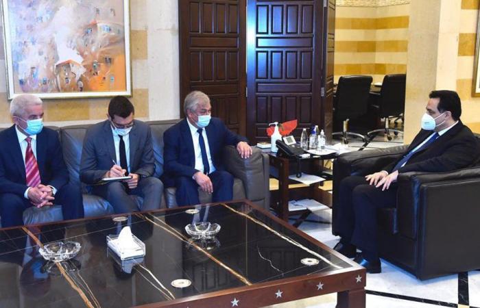 دياب: نشكر روسيا على وقوفها الدائم إلى جانب لبنان