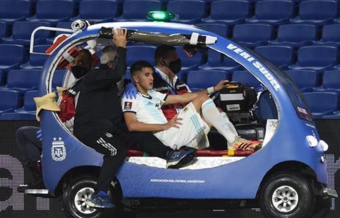 إصابة لاعب منتخب الأرجنتين بكسر في الظهر