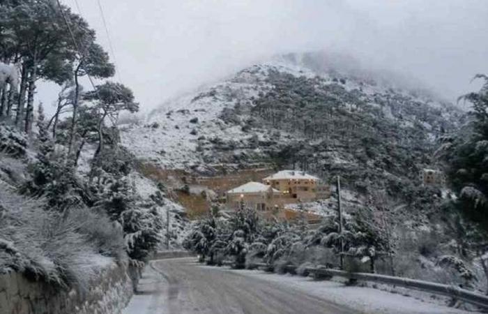طقس لبنان ماطر وعاصف والثلوج تلامس الـ 1800 متر!