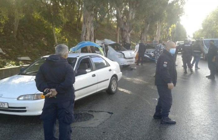 لحظة فرار المساجين في السيارة قبل الحادث (فيديو)