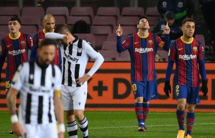 ميسي يقود برشلونة إلى فوز صعب على ليفانتي