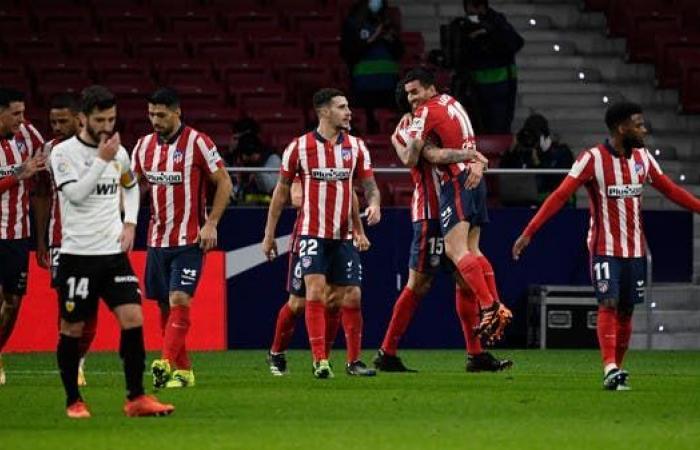 أتلتيكو مدريد يعاقب فالنسيا بثلاثية
