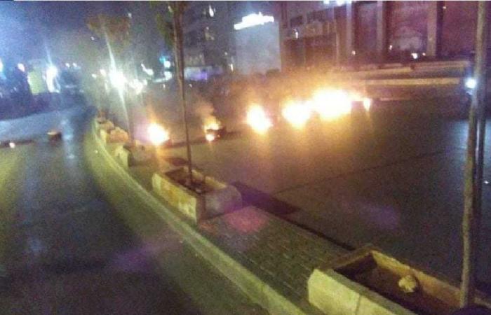 قطع الطريق عند مستديرة الشياح والجيش يعيد فتحه