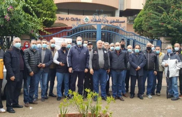 وقفة احتجاجية لمتقاعدي قوى الأمن للمطالبة بالطبابة