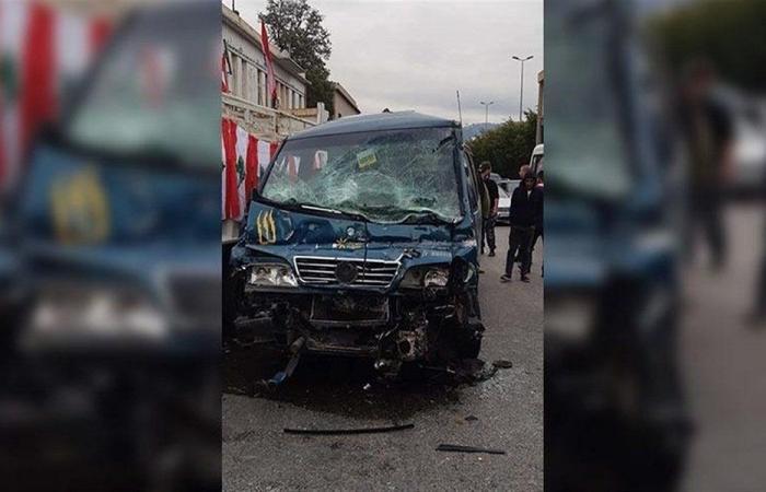 """تعرّض شاحنة """"الشهيد جو نون"""" لحادث كبير أثناء جولتها ببيروت"""