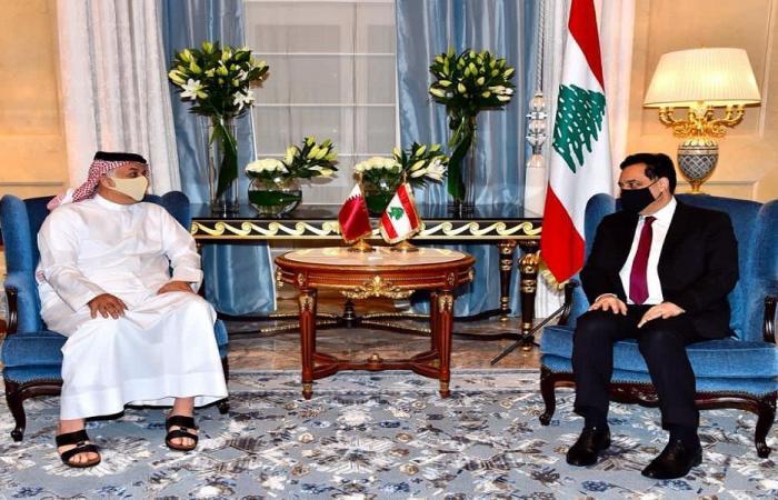 دياب التقى نائبي رئيس الوزراء القطري