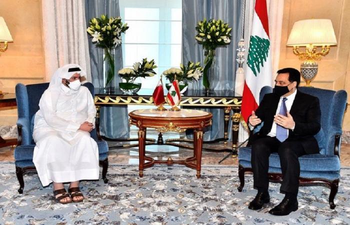 دياب اجتمع مع وزيري الاوقاف والمالية في قطر