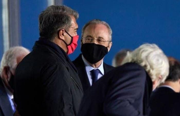 لابورتا يكسر صمته ويدعم بيريز في دوري السوبر الأوروبي