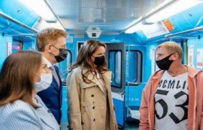 إطلاق قطار للأطباء في مترو الأنفاق بموسكو