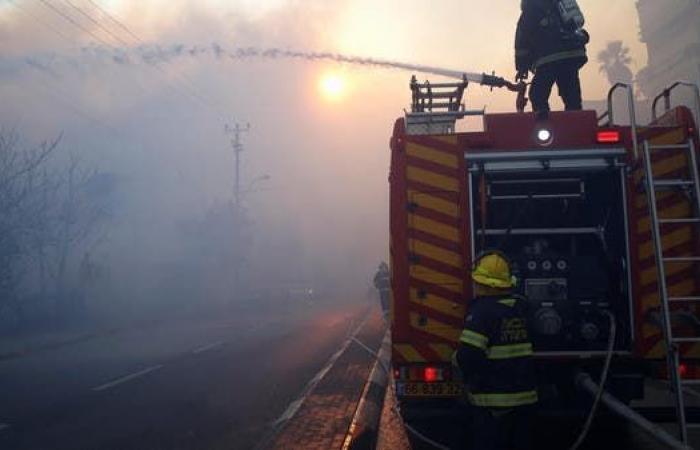 إعلام إسرائيلي: حريق كبير بجوار مطار بن غوريون وإخلاء منازل